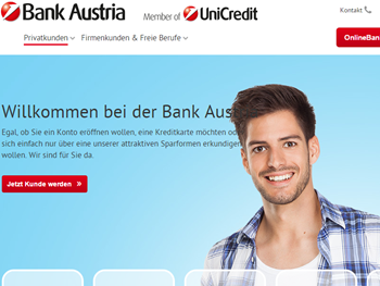 Bank Austria Online Shop