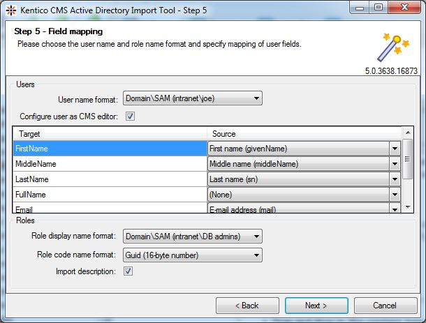 Active Directory Import