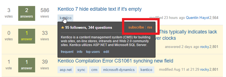 Subscribe on Stack Overflow