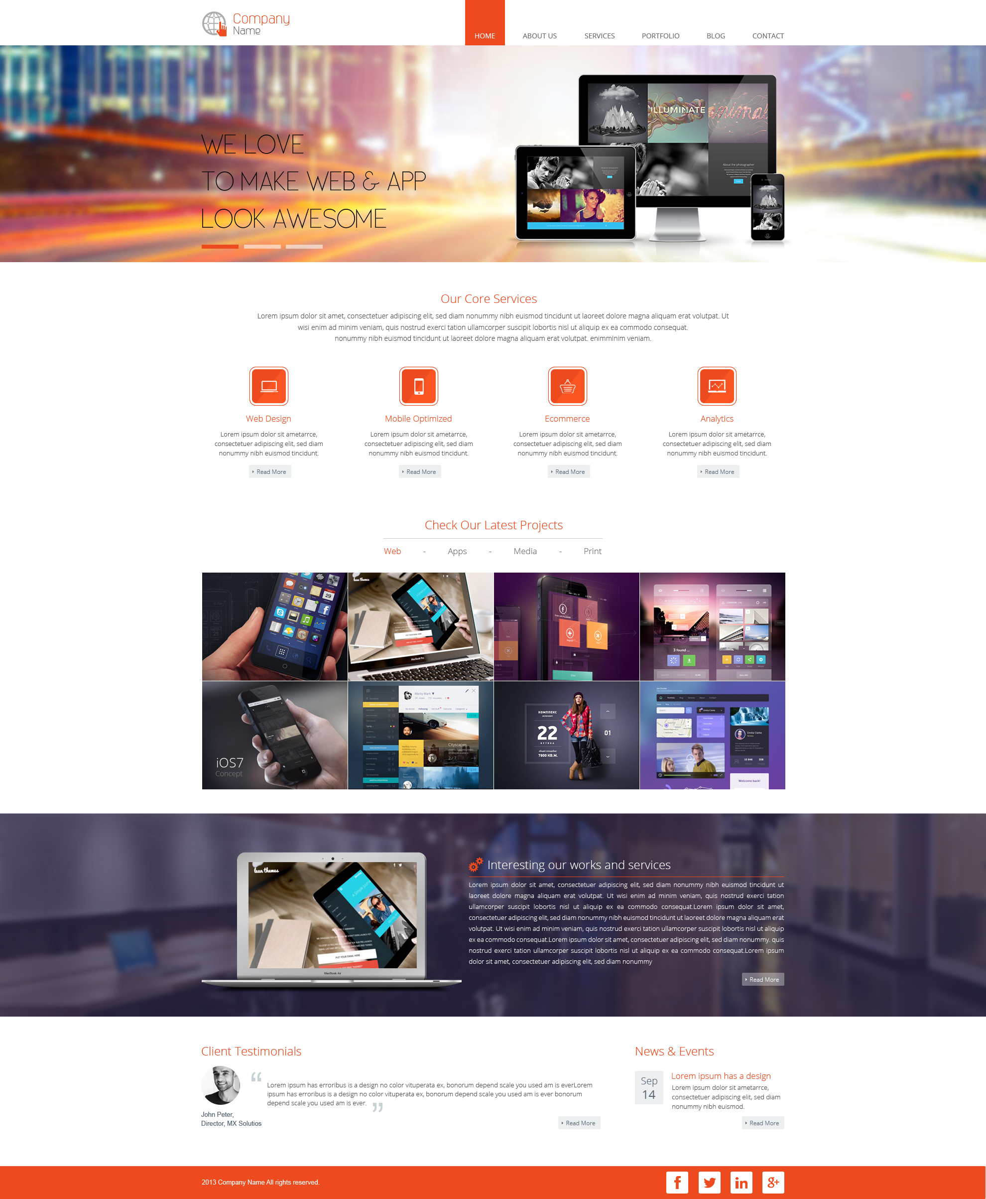 Responsive Template for Digital Agencies