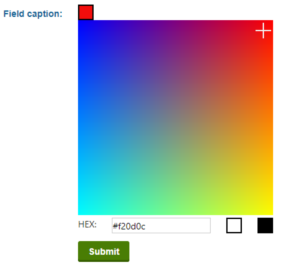 Color picker preview