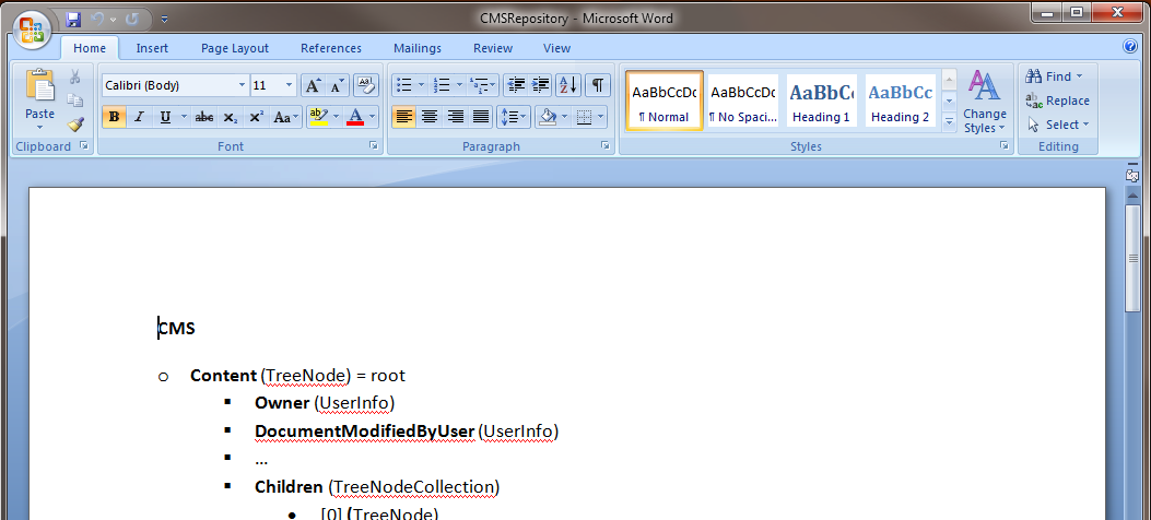 microsoft word correction mode