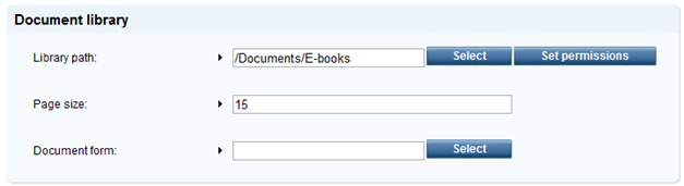 Document library settings