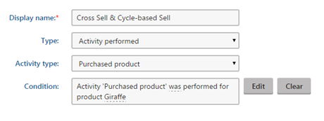 trigger for Upsell, Cross sell and Cycle-based sell in marketing automation