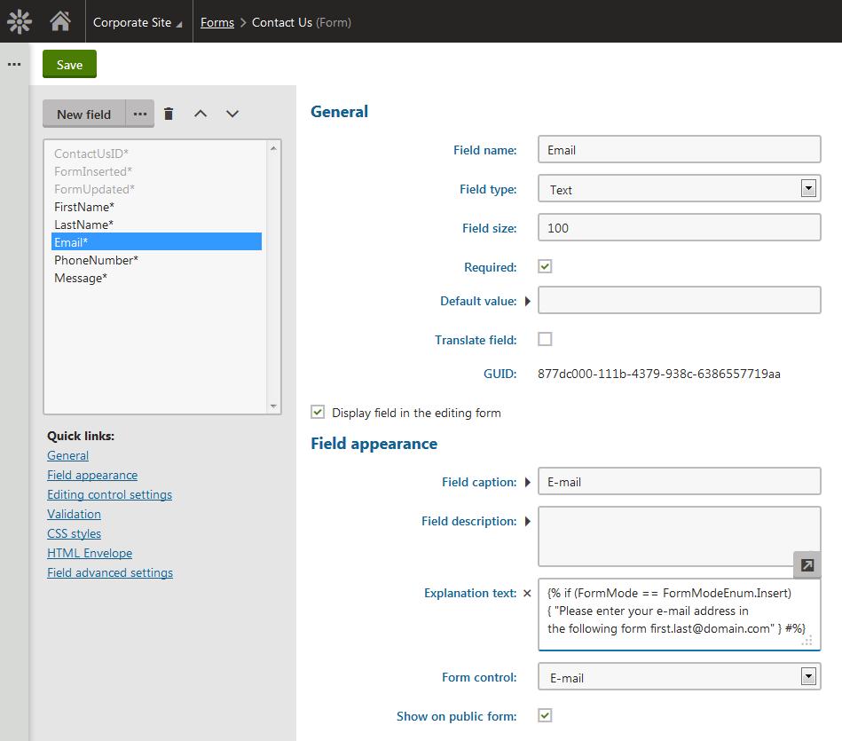 Kentico  Technology Form Engine Improvements - Us zip code format validation javascript