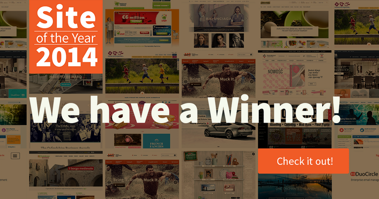 Site of the Year 2014 - Winners