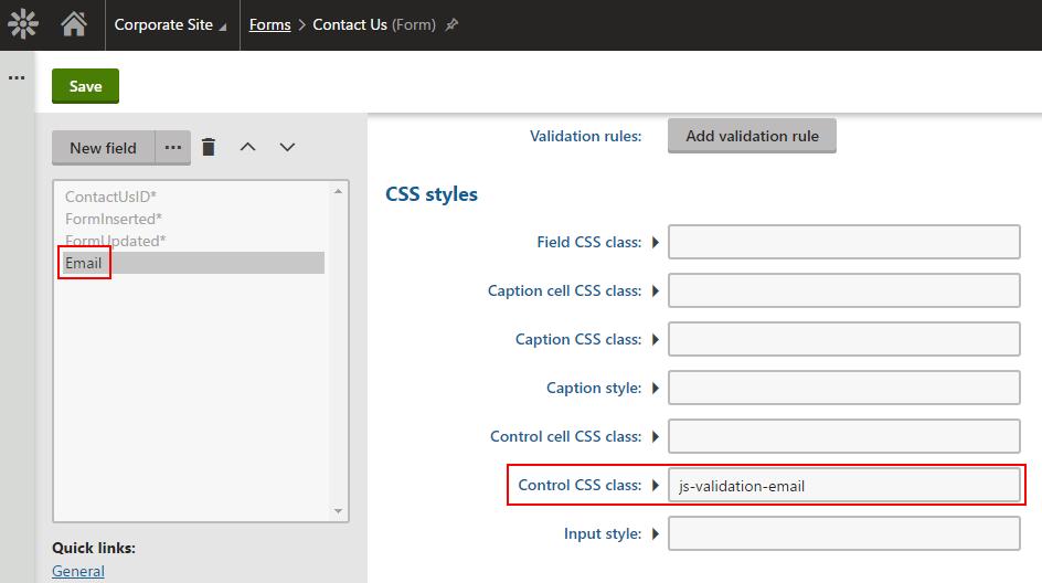 Javascript form validation
