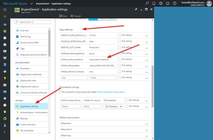 Managing Kentico Application Settings in Azure App Services