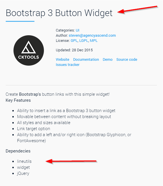 Adding a Bootstrap Button plugin to the CKEditor in Kentico 10