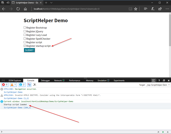 Understanding the ScriptHelper API in Kentico
