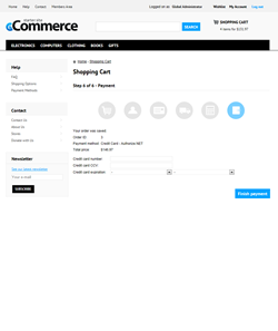 Kentico E-commerce Starter Site - Payment
