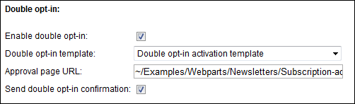 Double opt-in settings