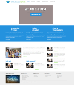 Responsive template for educational institutes for Kentico email template