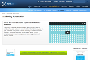 marketing automation feature page