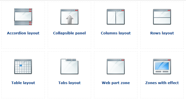 All layout web parts